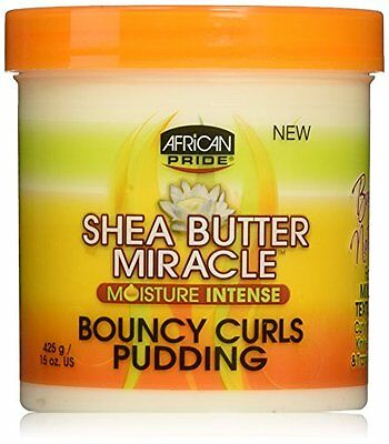 African Pride Shea Butter Miracle Moisture Intense Bouncy Curls Pudding 15oz