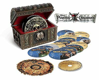 Pirates of the Caribbean: Complete Movies Series 1 2 3 4 Boxed BluRay Set NEW!
