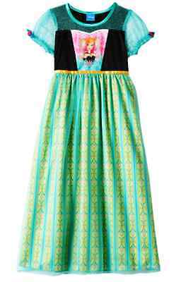 DISNEY Frozen Fever Anna Dress-Up S/S NIGHTGOWN Size 8 NWT
