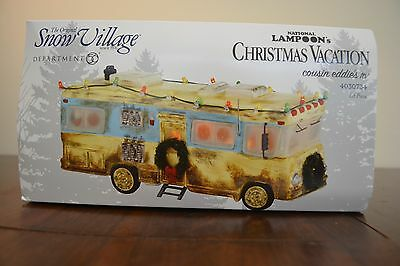 National Lampoon Christmas Vacation Lit Piece Cousin Eddie's RV Dept. 56