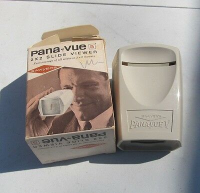 Pana-Vue 5 with box Sawyer's 2x2 slide viewer for 35mm slides