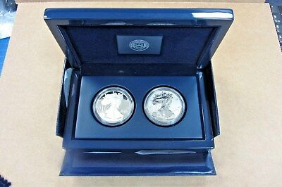 2012 Silver Eagle San Francisco Two Coin Proof Set- Proof And Reverse Proof