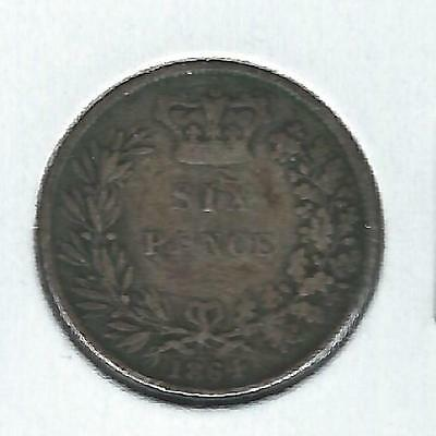 Great Britain 6 pence 1864 VG+