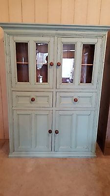 Antique English Pine Flat Wall Cupboard c. 1850