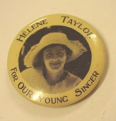 C1920s Helene Taylor For Our Young Singer Button Badge