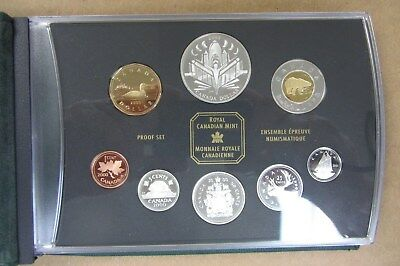 2000 Canada Proof Set - Five Sterling Silver Coins - Original Box