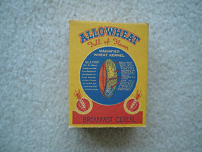 All-O-Wheat Sample Cereal Box 1945 Mint Complete