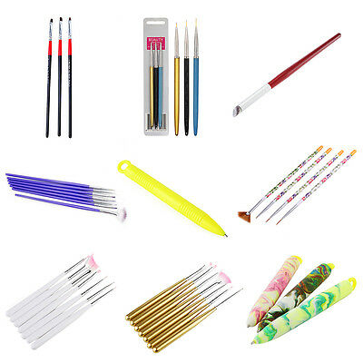 1/3/4/7pc DIY Nail Art Design Set Dotting Painting Drawing Polish Brush Pen Tool