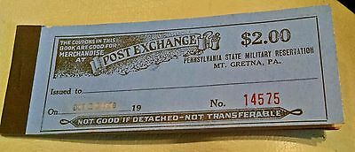Pa State Military Reservation Mt Gretna Post Exchange Booklet Now Indiantown Gap