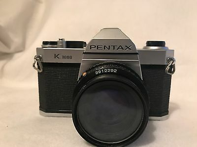 Pentax K 1000 35mm Camera with an SMC 50mm F 1/2 F2 Lens Pre-Owned