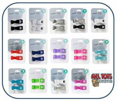 NEW All4Ella Pram Pegs 2 Pack Stoller Muslin Clips Baby Shower Gift All Colours