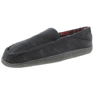 Mixin 0799 Mens Black Faux Suede Fleece Loafer Slippers Shoes XL 11-12 BHFO