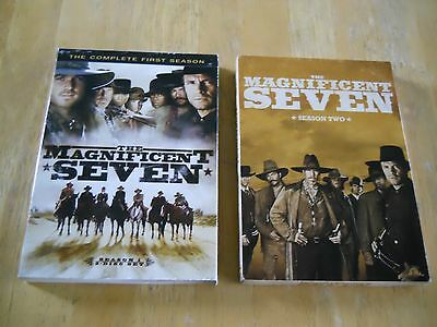 The Magnificent 7 TV Series Seasons 1 & 2 DVD Box Sets (Lot of 2)