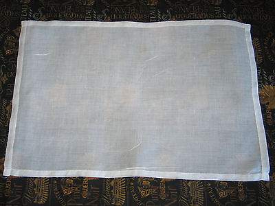 Stunning Antique Vintage Hand Made White Linen Organdy Placemats~4~