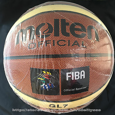 Molten GL7 7 PU basketball indoor  official within BAG NET NEEDLE WHISTLE