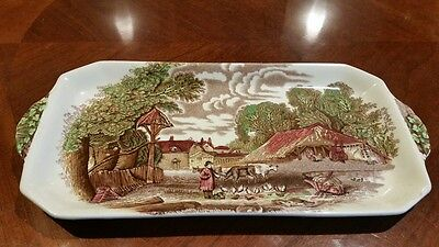 Clarice Cliff Royal Staffordshire Rural Scene Plate