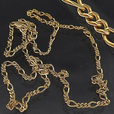 Classic Solid 9K GOLD 3:1 FIGARO LINK NECKLACE chain 493mm 4.7gm