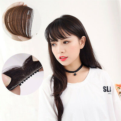Fashion Women Girl's Straight Thin Fringe Bangs Hair Extension With Clip Hair