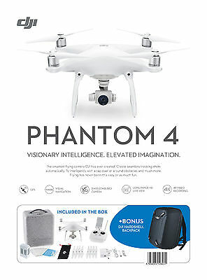 DJI Phantom 4 Drone - Brand New - Australian Stock & Warranty FREE Backpack