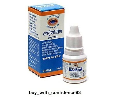 Isotine Eye Drops For Cataract,myopia And Hypermetropia 10 Ml
