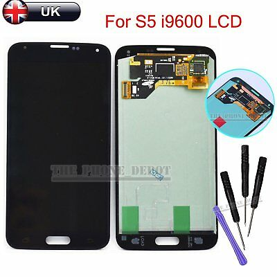 For Samsung Galaxy S5 i9600 G900F LCD Digitizer Touch Screen Assembly Black UK