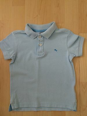 H&m Boys Pale Blue Polo Shirt Age 1 1/2 - 2 Years *excellent Condition*