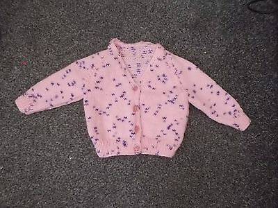 knitted baby cardigan will fit 6-9 months