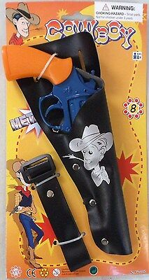 Toy Cap Gun - Cowboy - Die Cast Metal - 8 Shot Kid's Toy Cap Pistol Holster