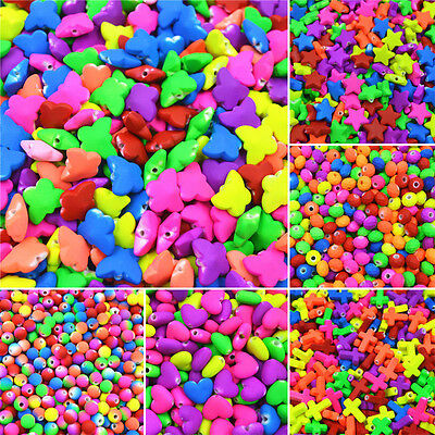 Chic Kids Multicolor Plastic Loose Beads Jewelry Accessories Handmade Crafts