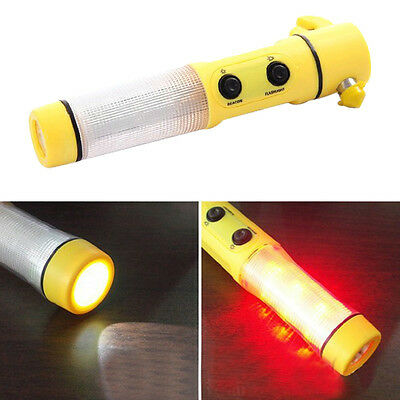 Car Vehicle Flashlight Safety Rescue Window Breaker Emergency Hammer Tool