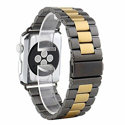 Stainless Steel Metal Strap Watchband For Apple Watch Band 42mm Space Gray Gold