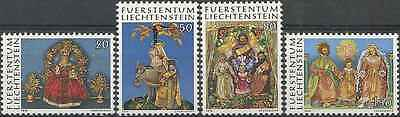 Timbres Religion Noel Liechtenstein 603/6 ** lot 6553
