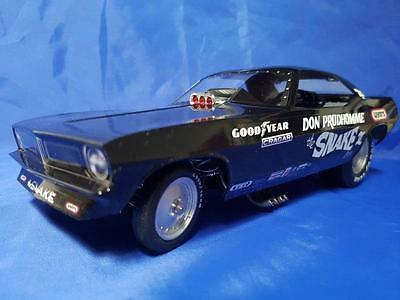 "1973 Don Prudhomme ""The Snake III"" 1:18th Black Plymouth Cuda Funny Car"