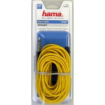 "Hama 6943 Studio Flash Cable Yellow 1/4"" Jack 10 Meter Sync Cord Lead"