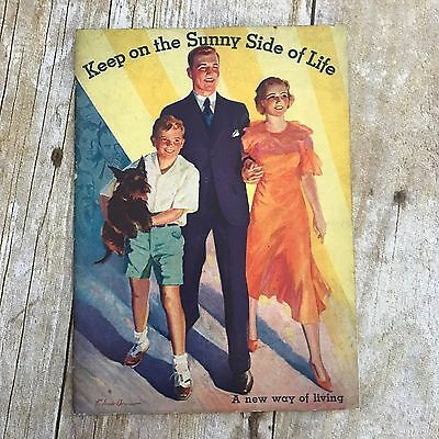 vtg Kellogg's All Bran Keep on the Sunny Side of Life booklet 1933 paperback