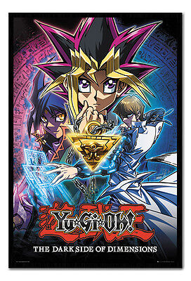 Framed YU GI OH The Darkside Of Dimensions Poster New