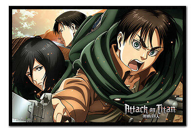 Framed Attack On Titan Scouts Poster New