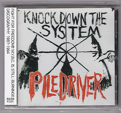 Piledriver - Knock Down The System CD Death Side Mad Conflux Burning Spirits HC