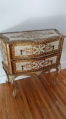 Antique French Style Gold Finish Dresser