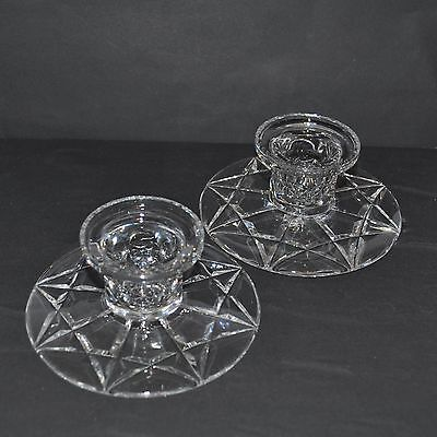 Stuart Crystal Pair Of Candle Stick Holders Vgc