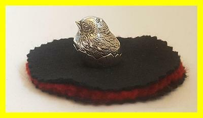 Rare S.mordan & Co Silver Hatching Chick Pen Wipe,hallmarked Chester 1908