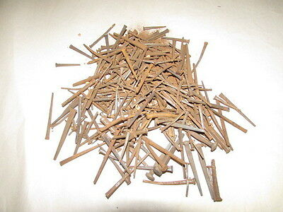 "One Pound Of Antique Square Nails - Average Size - 2 1/4"" Long."