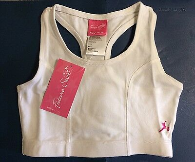 Girl's Capezio Future Star Princess Seam Bra Medium 7/8 White~Athletic~Dance