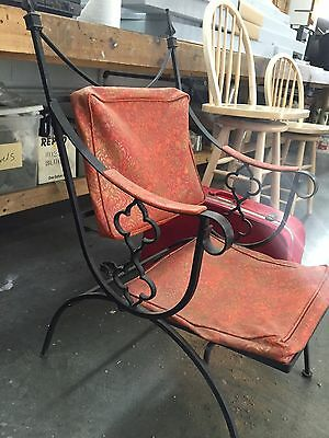 Vintage Wrought Iron Antique Chair