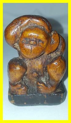 Late 18Th Century Carved Scrimshaw Monkey,folk Art,maritime Interest.