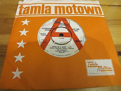 "Tmg 547 Uk 7"" 45Rpm 1965 The Miracles ""going To A Go Go"" Promo Ex- Northern Soul"