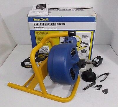BrassCraft 5/16 in. x 50 ft. Cable Drum Machine BC260 Portable Drill Mounted