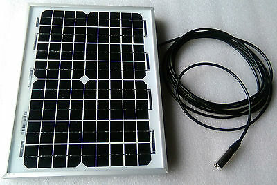 Mobility Scooter Solar Panel Battery Charger 10w 10 watt 24v 24 volt +10m lead