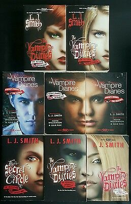 Lot Of 8 L J Smith Books - Vampire Diaries Return Captive Circle Stefans Diaries