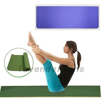 Portable Non-slip Yoga Mat Exercise Pad 6MM Thick Gym Pilates Supplies New